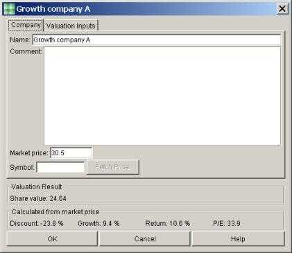 Company information view